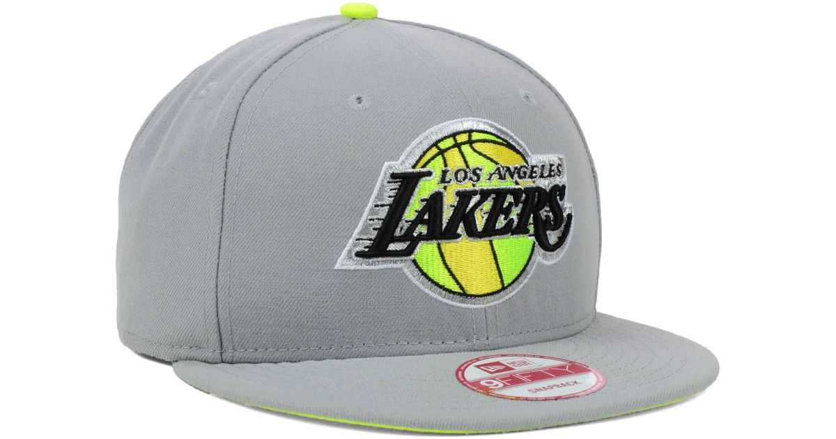 hot new products premium selection great prices KTZ Los Angeles Lakers Hardwood Classics Neon Time 9fifty Snapback ...