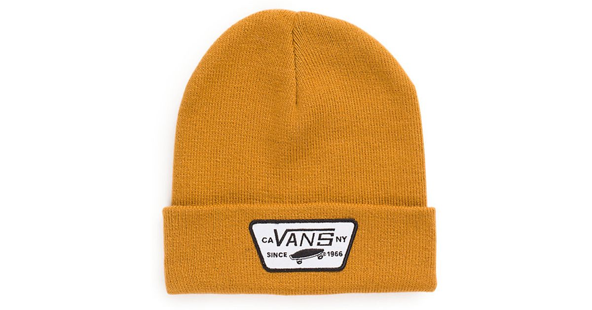 Lyst - Vans Milford Beanie Brown in Yellow for Men 2a5e6397723