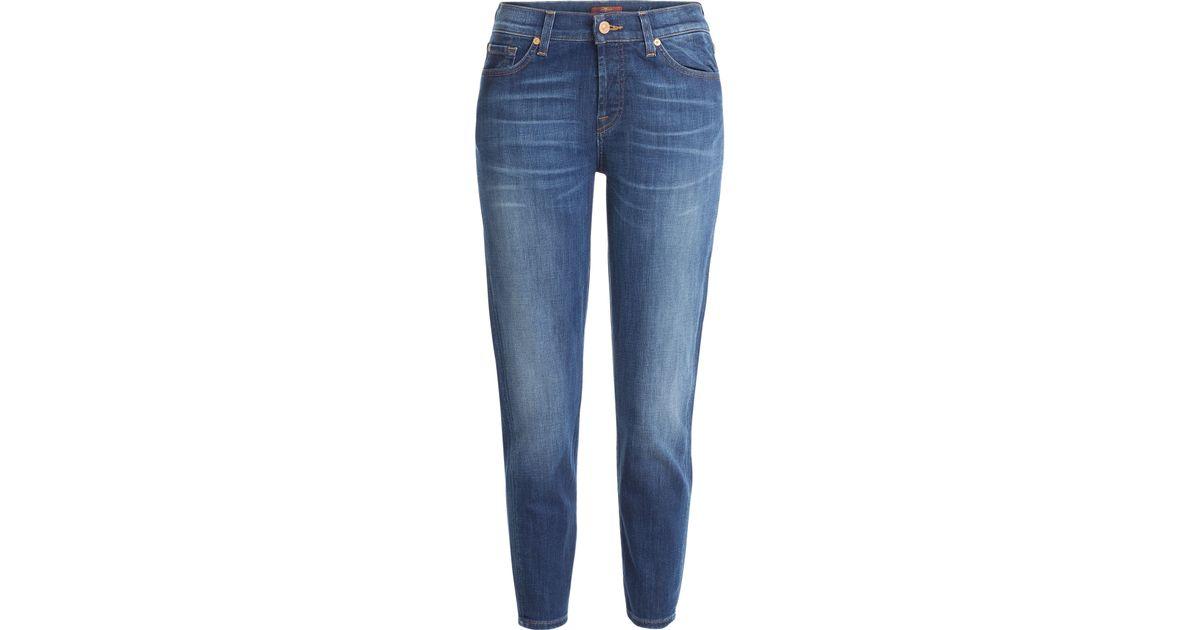 7 for all mankind skinny jeans blue in blue save 31. Black Bedroom Furniture Sets. Home Design Ideas