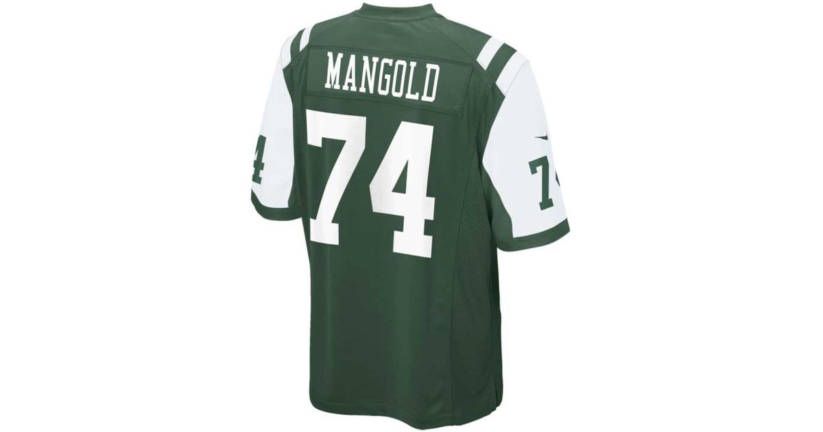 new concept f72ee 06380 Nike - Green Little Boys' Nick Mangold New York Jets Game Jersey for Men -  Lyst