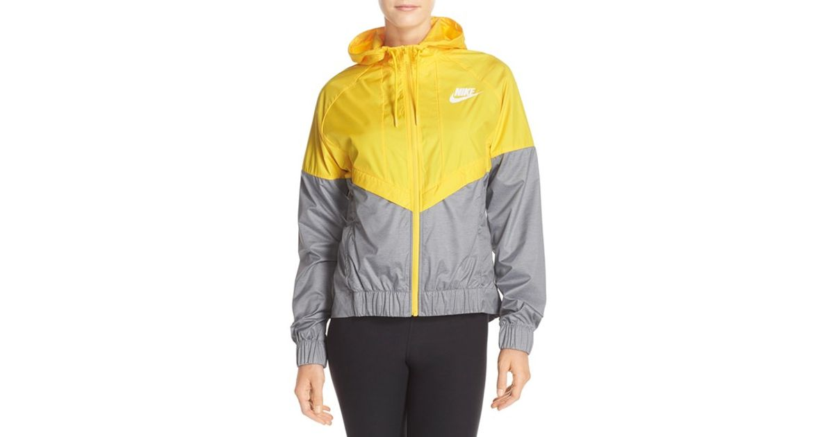 80b11c544b41 Lyst - Nike Windrunner Water-Repellent Jacket in Yellow