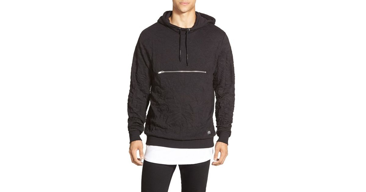 bc994f666 Cheap Monday Creased Pullover Hoodie in Black for Men - Lyst