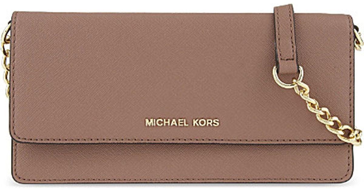a3bb3b43a8a6f MICHAEL Michael Kors Daniela Saffiano Leather Cross-body Bag in Brown - Lyst