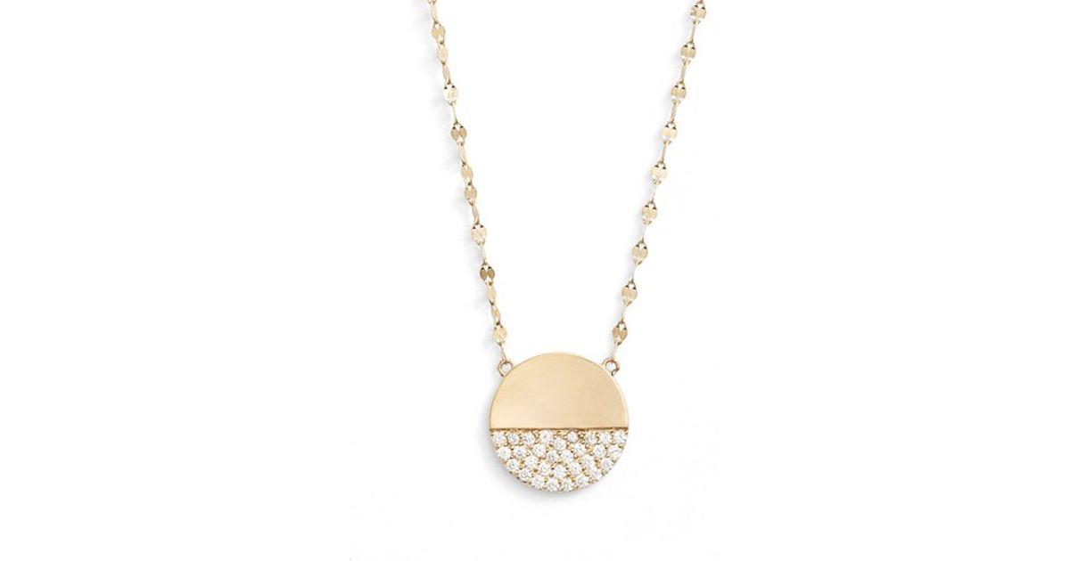 Lana Jewelry 14k Flawless Diamond Pavé Disc Pendant Necklace yL00jizqGJ