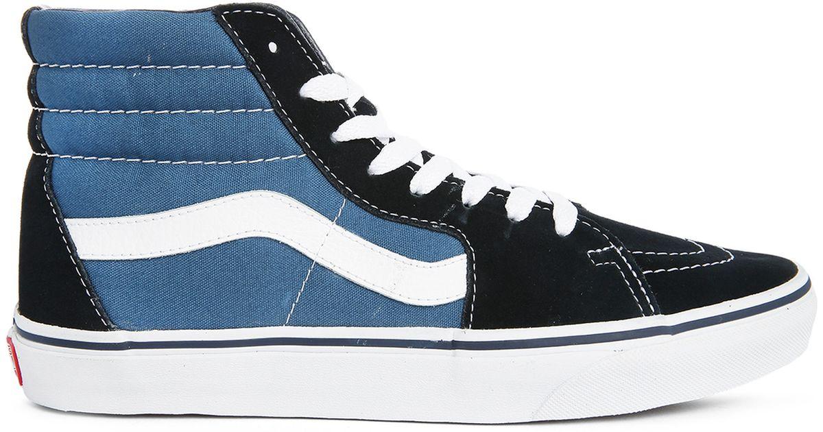 vans blackblue sk8 hi sneakers in black for men lyst