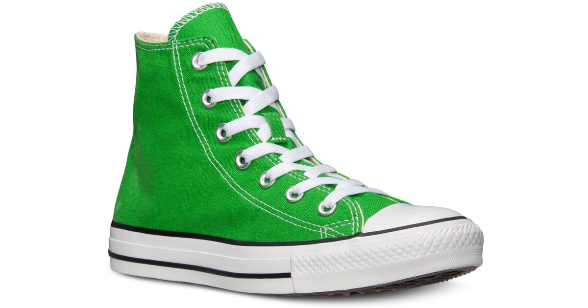 295a98f51730 Lyst - Converse Mens Chuck Taylor High Top Casual Sneakers From Finish Line  in Green for Men