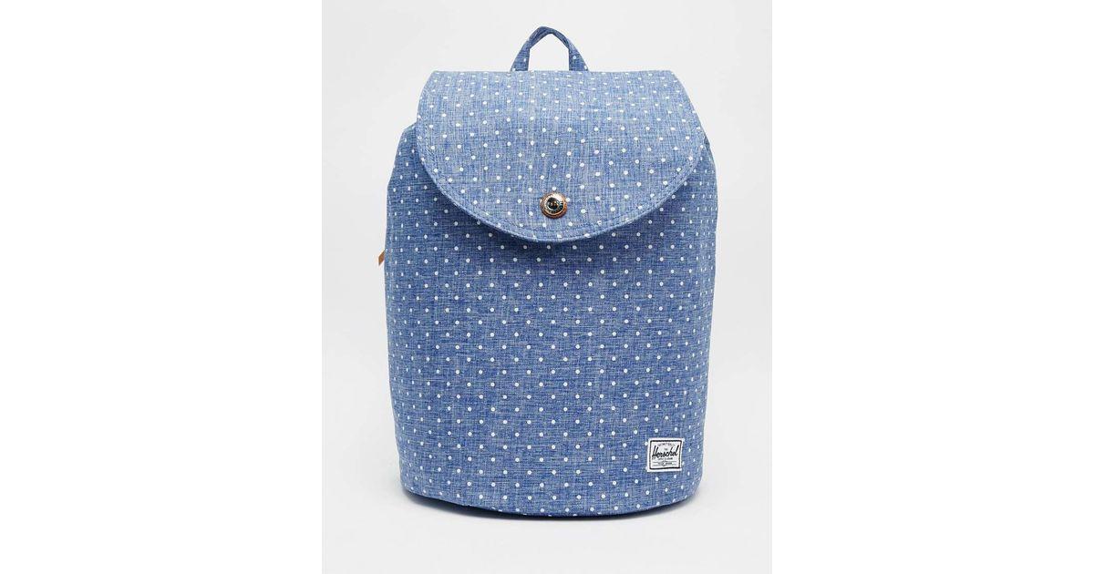 Lyst - Herschel Supply Co. Reid Mini Polka Dot Backpack in Blue 78135975ada9a