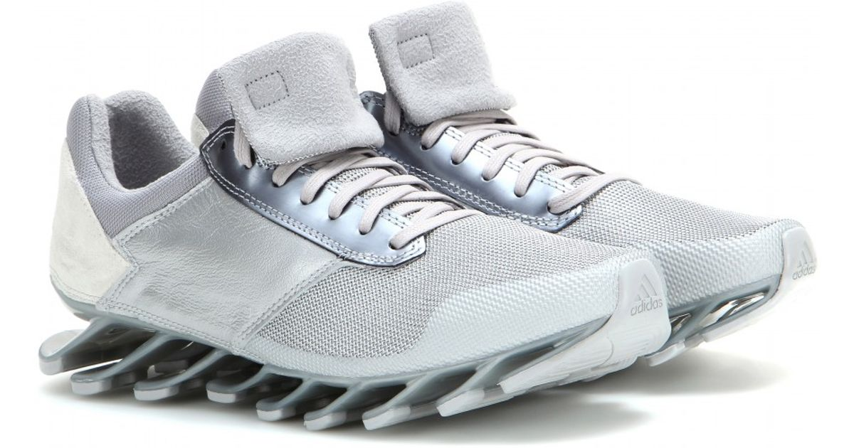low priced 02286 7d649 Rick Owens Metallic Springblade Low Sneakers