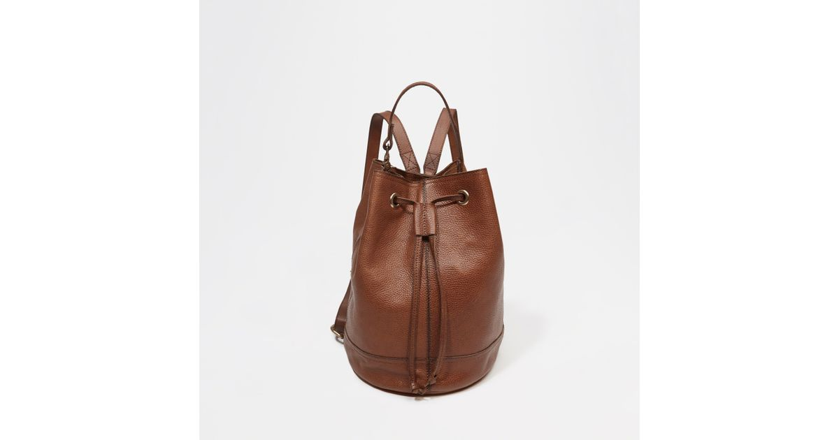 Lyst - Abercrombie   Fitch Leather Backpack Bucket Bag in Brown 8a624734f4