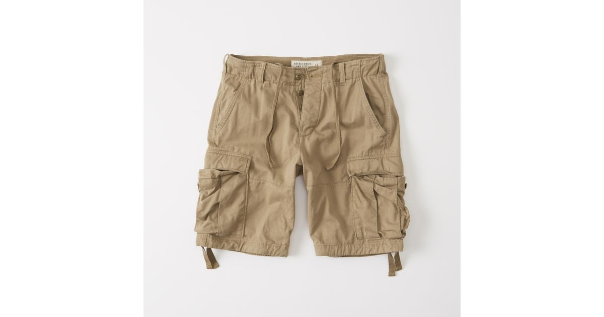 63ad69aa1e Lyst - Abercrombie & Fitch Cargo Shorts in Natural for Men