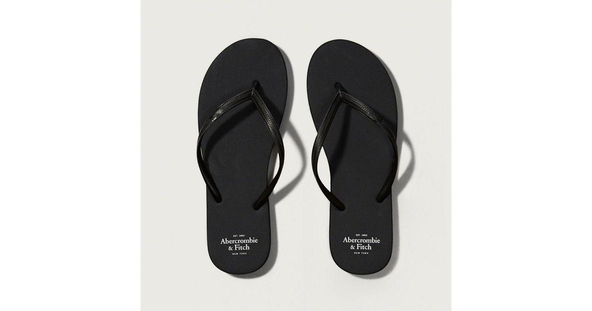 7c746f8693b356 Lyst - Abercrombie   Fitch Rubber Flip Flops in Black