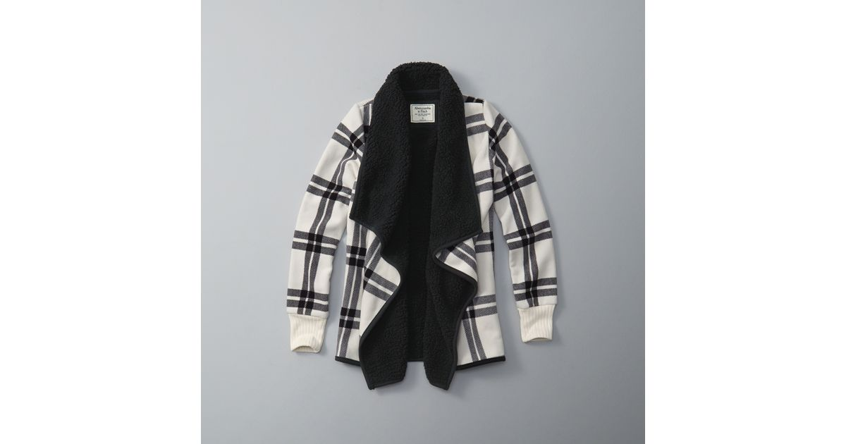 Abercrombie And Fitch Clothing Abercrombie And Fitch Hoodies Abercrombie And Fitch Jackets Abercrombie And Fitch Sweater: Abercrombie & Fitch Sherpa Fleece Jacket In Black