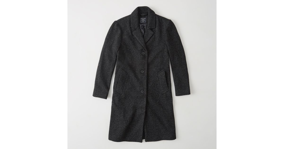 Abercrombie And Fitch Clothing Abercrombie And Fitch Hoodies Abercrombie And Fitch Jackets Abercrombie And Fitch Sweater: Abercrombie & Fitch Long Wool-blend Coat In Gray