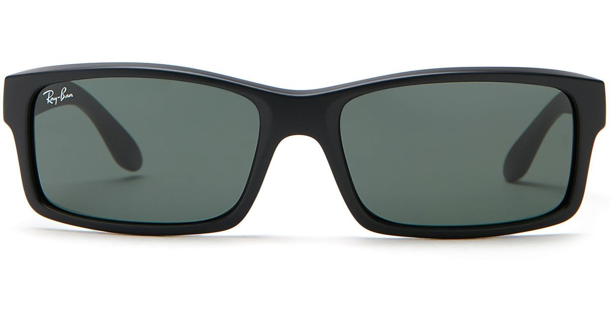 d7db4814933ec ... closeout lyst ray ban black rb4151 rectangular sunglasses in black for  men 38fcc 6f552