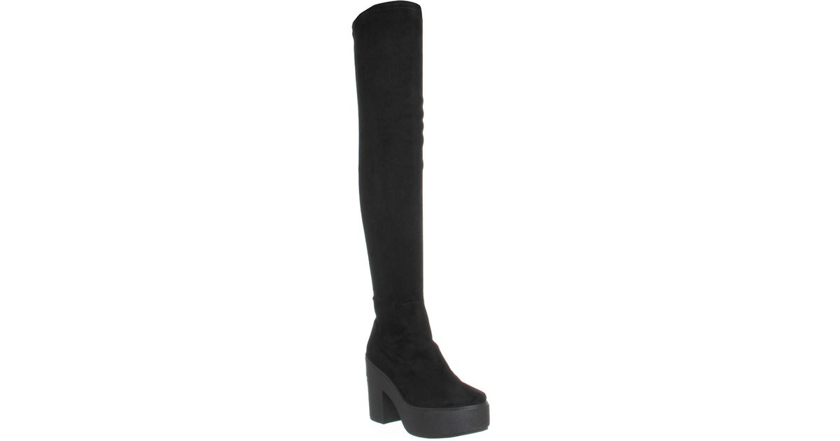 office stretch thigh high boots in black save 21