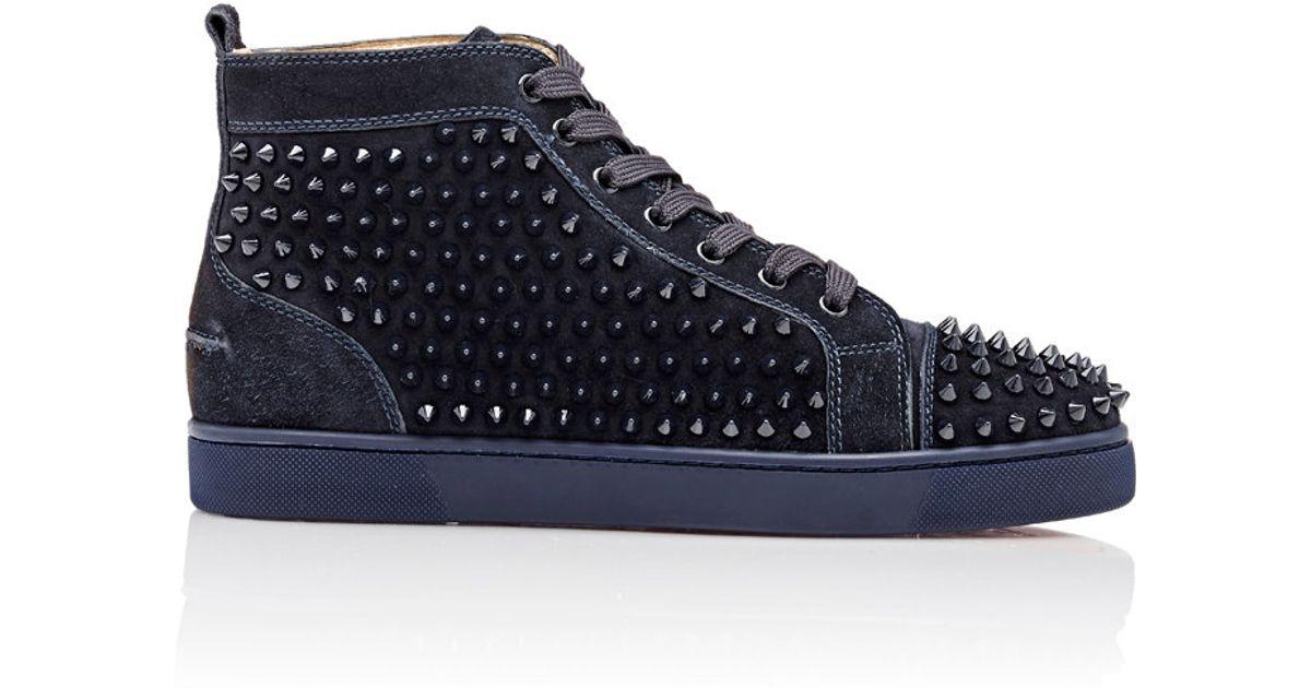 befa6f76516 Christian Louboutin Blue Spiked Louis Flat Sneakers for men