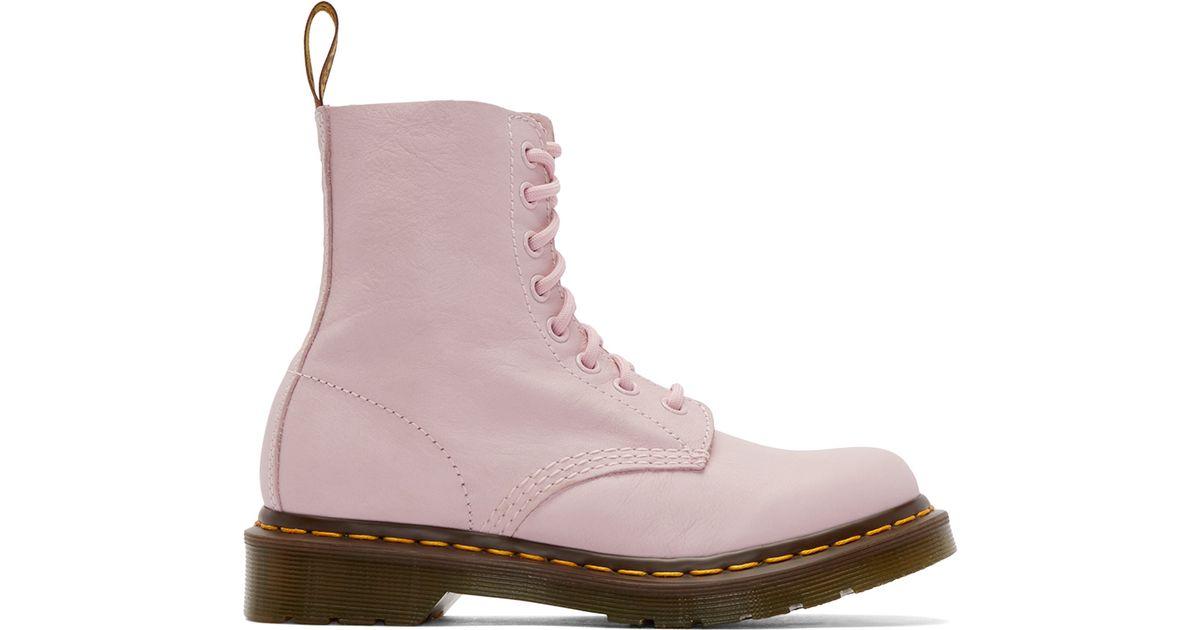 d9135913abd Dr. Martens Pink Eight-eye Pascal Boots