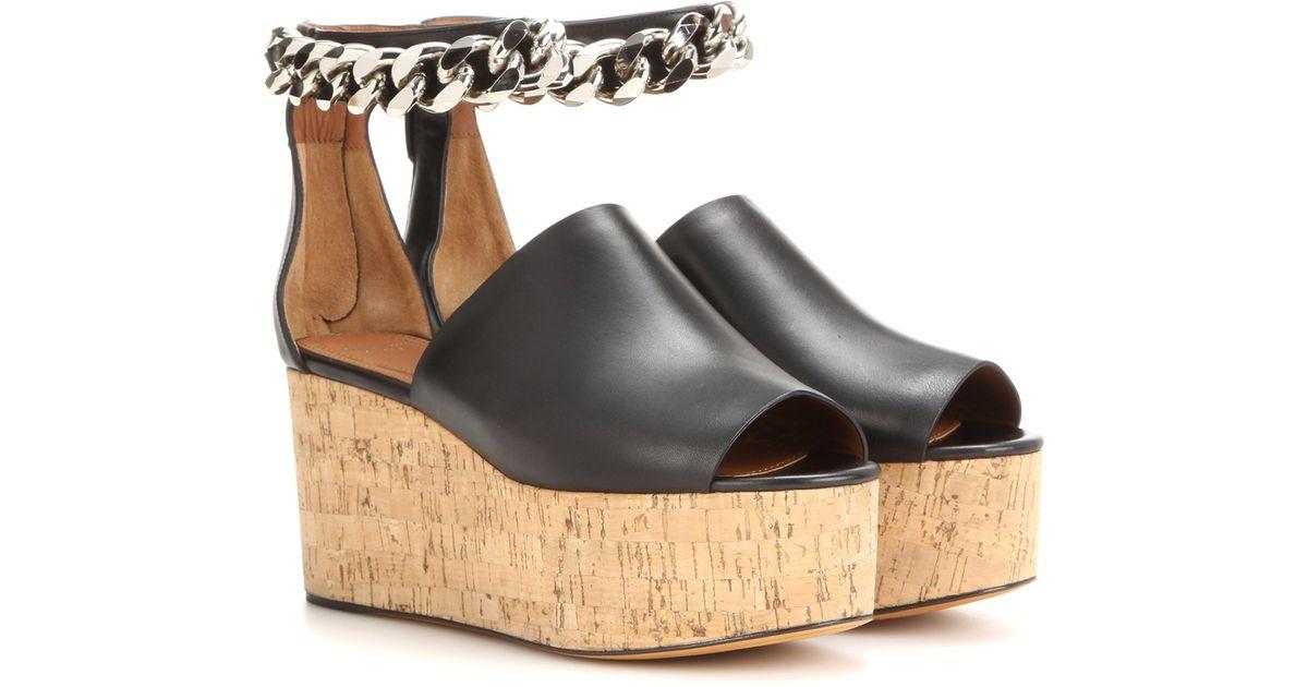 givenchy embellished open toe platform sandals in black lyst