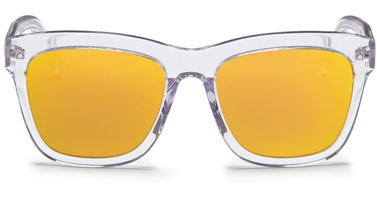 fb92b26a1b6 Lyst - Spektre  Milano  Clear Acetate Mirror Sunglasses in Orange