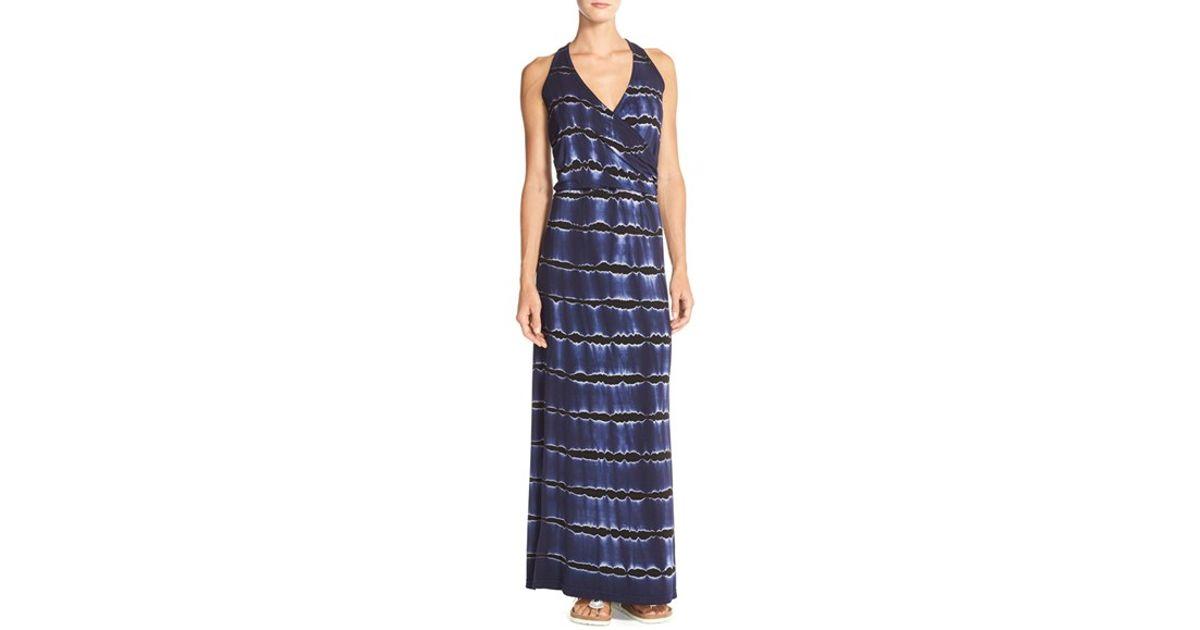 a731b473706a Lyst - Hard Tail Tie-dye Knit Maxi Dress in Blue