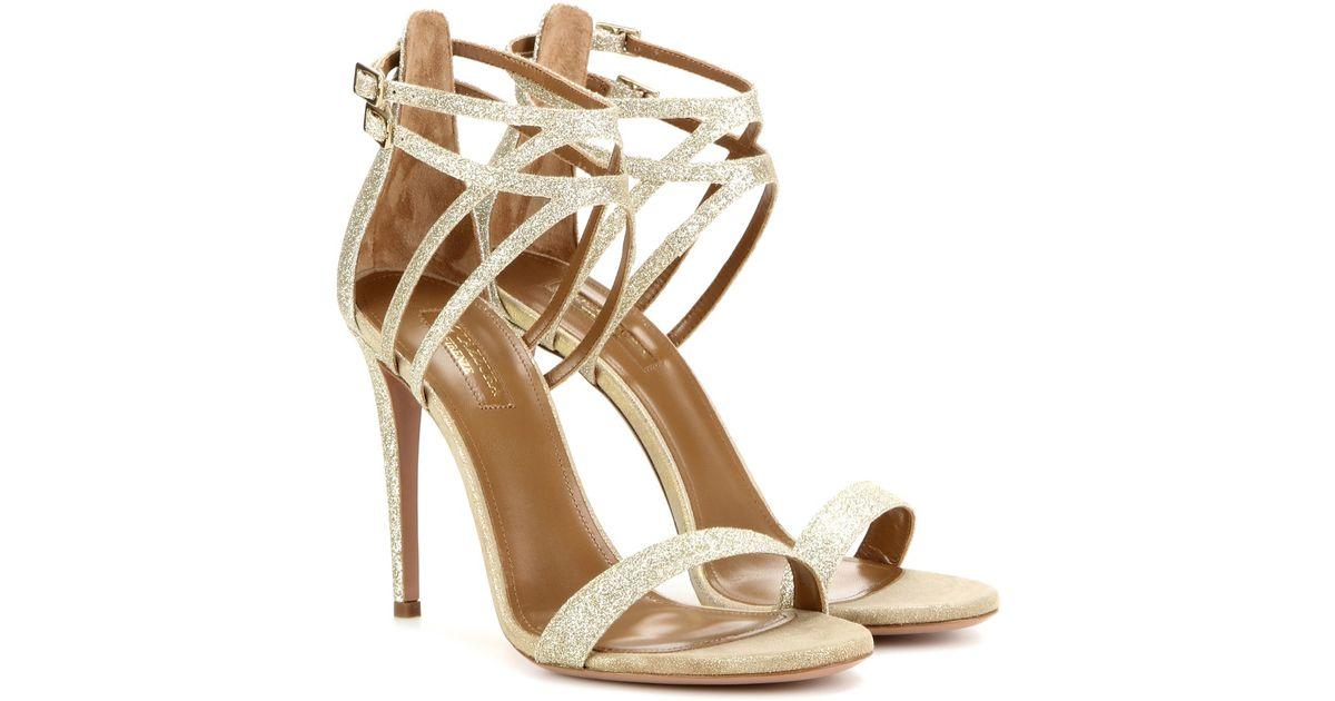 Aquazzura Purist 105 glitter sandals fyiDlQc