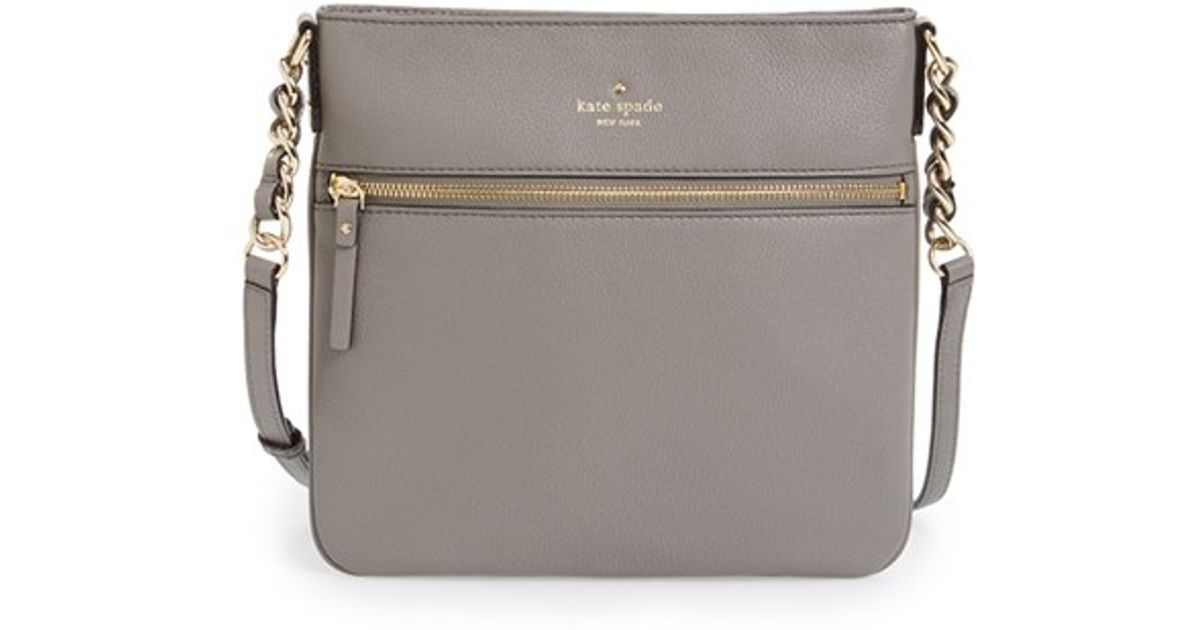 Lyst Kate Spade New York Cobble Hill Ellen Leather Crossbody Bag In Gray