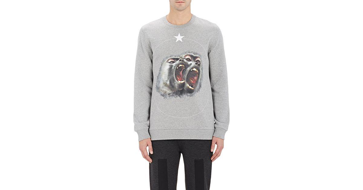 ec0e9c690 Givenchy Monkey & Star Sweatshirt in Gray for Men   Lyst