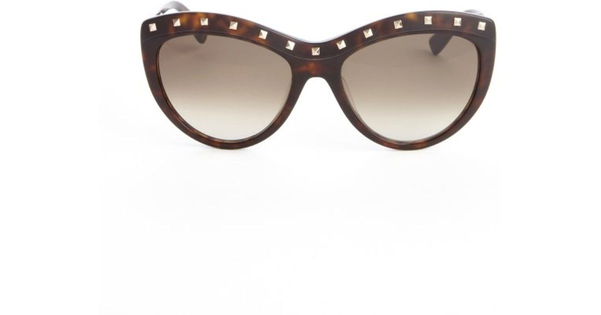 Tortoise Print Sunglasses  valentino brown tortoise print acrylic studded detail cat eye