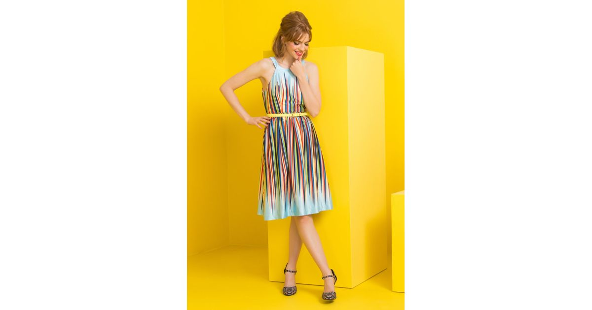 Modcloth What's The Zeal? Dress In Rainbow in Multicolor ...