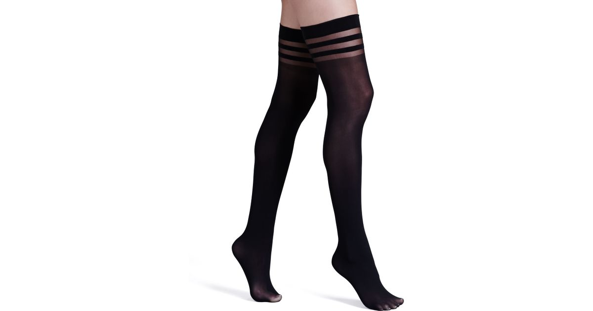 277428da7 Lyst - Alice + Olivia Opaque Thigh-high Stockings By Pretty Polly in Black