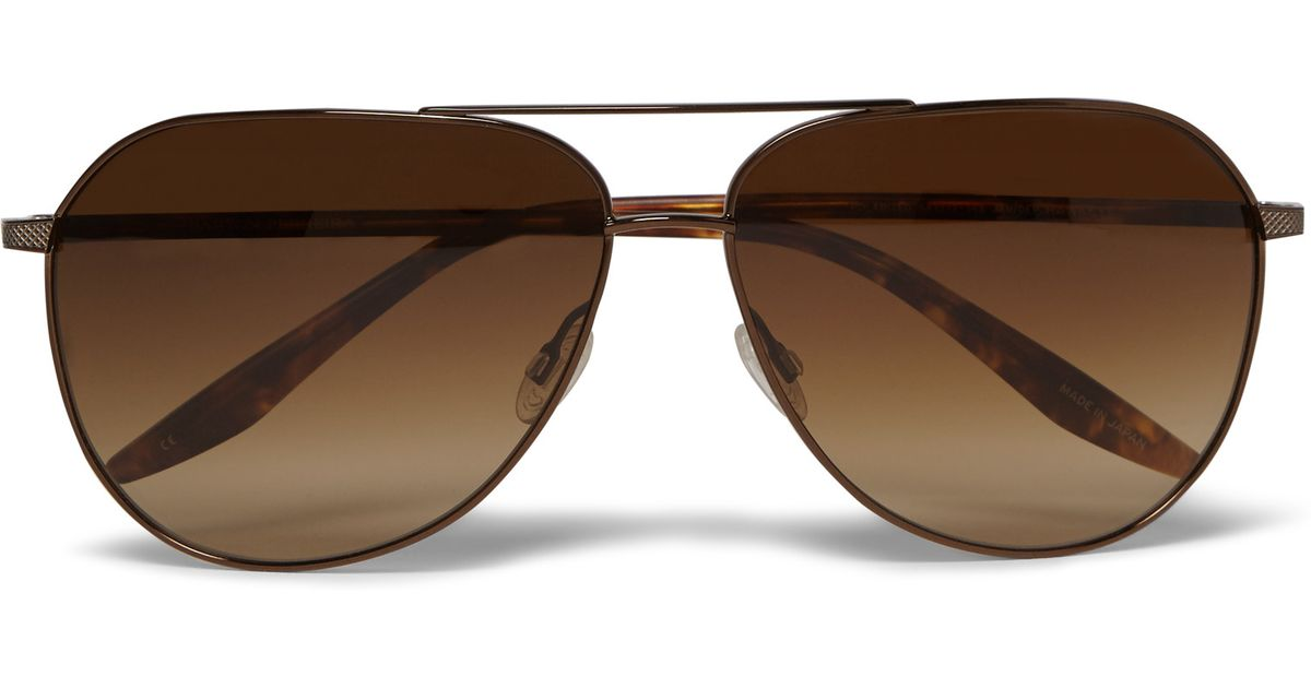 dce1aa44670 Barton Perreira Hawkeye Aviator-style Acetate And Metal Sunglasses in Brown  for Men - Lyst