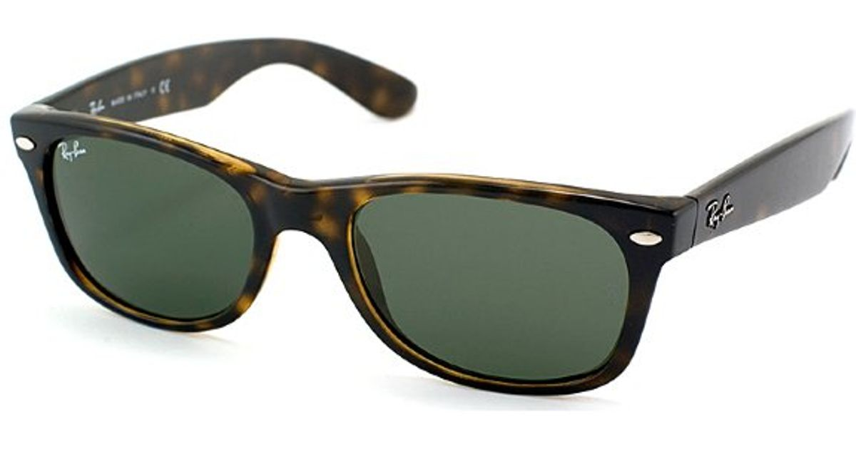 3e8a3c4ab1d Lyst - Ray-Ban Ray Ban Rb2132 New Wayfarer 902l Plastic Sunglasses in Brown
