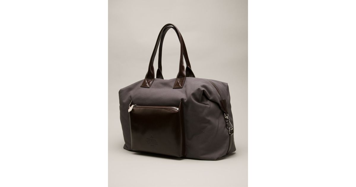 6ce89e2e1c Vivienne Westwood 'Punk Pocket' Canvas Weekender Bag in Gray for Men - Lyst