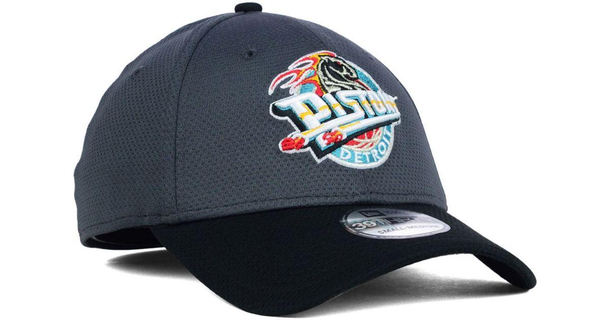 9eee85b3e40 Lyst - KTZ Detroit Pistons Nba Hwc Graphite 39Thirty Cap in Gray for Men