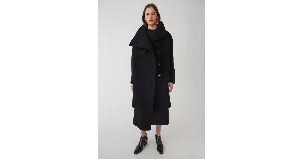 e557f652a Acne Funnel Neck Coat black