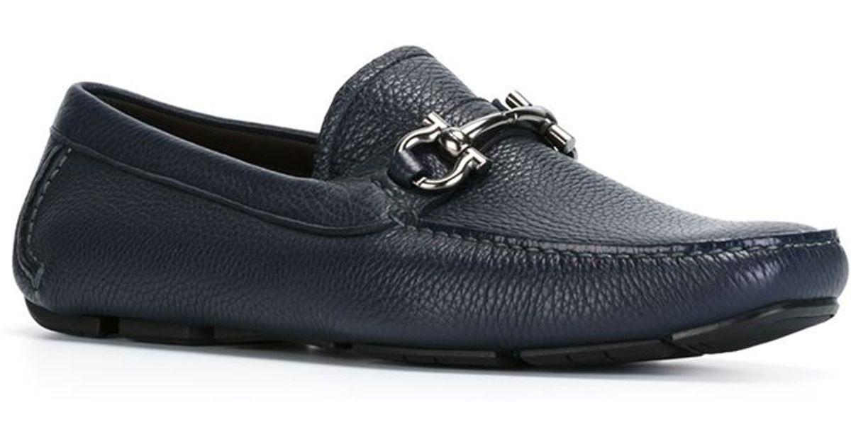 Ferragamo Leather 'parigi' Loafers in