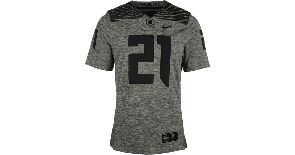 promo code 3d76c 4484a Nike Gray Men's Oregon Ducks Gridiron Grey Jersey for men