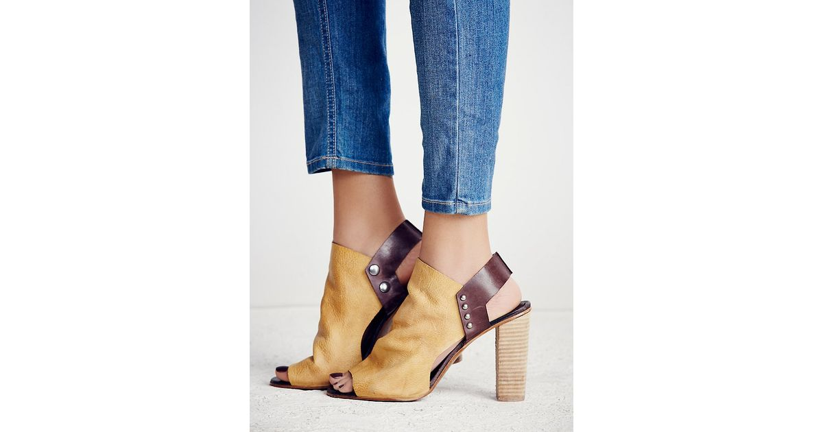 2cfe9255b355 Lyst - Free People Picture This Heel in Brown
