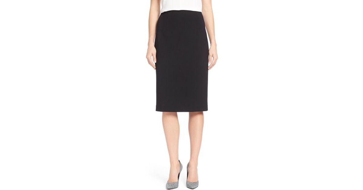 tracy high waist pencil skirt in black lyst
