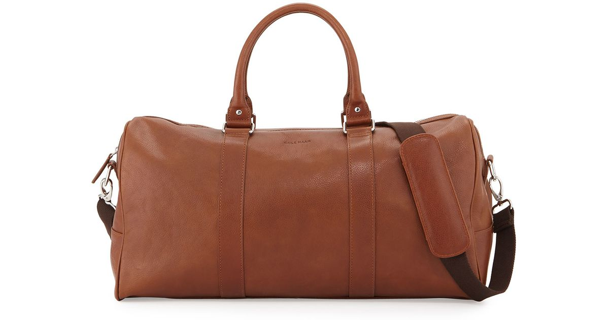 Lyst - Cole Haan Large Leather Duffle Bag in Brown for Men 2d1c4c0b661e9