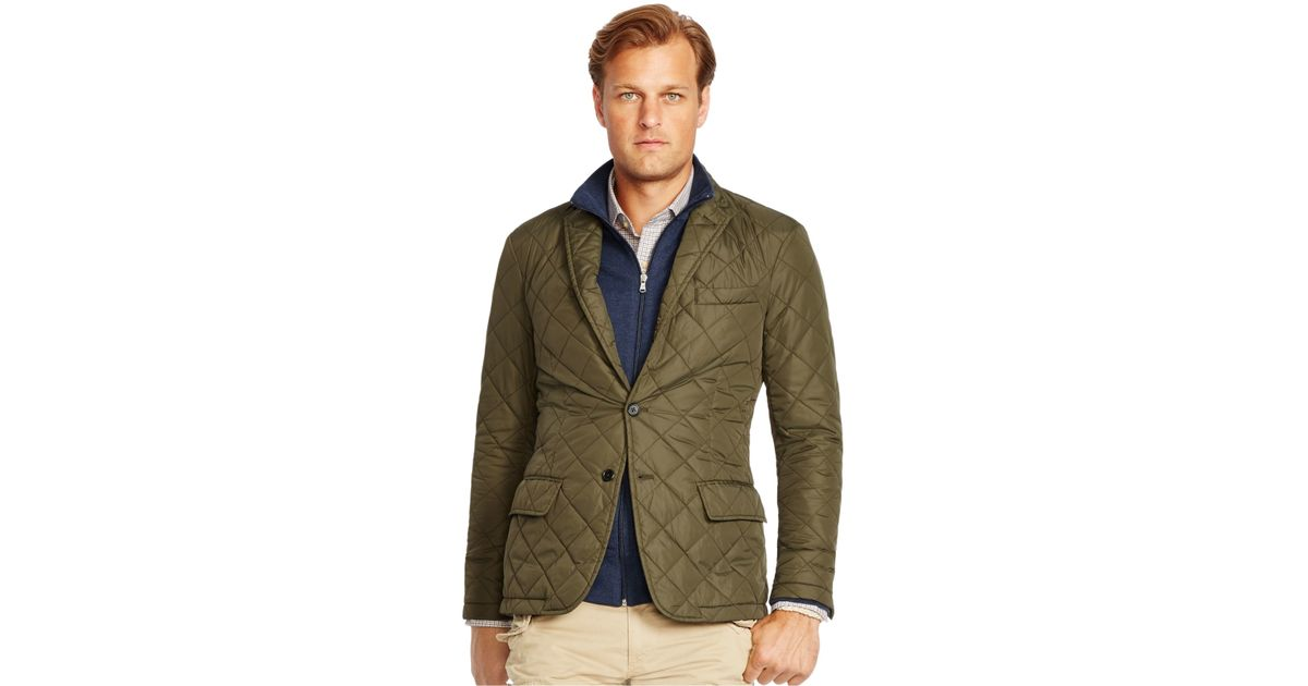 Polo Ralph Lauren Big And Tall Quilted Bomber Jacket In