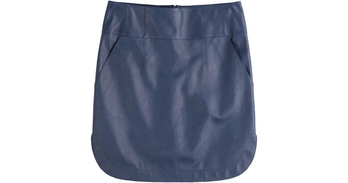 Jil sander navy Emesia Leather Skirt - Blue in Blue | Lyst