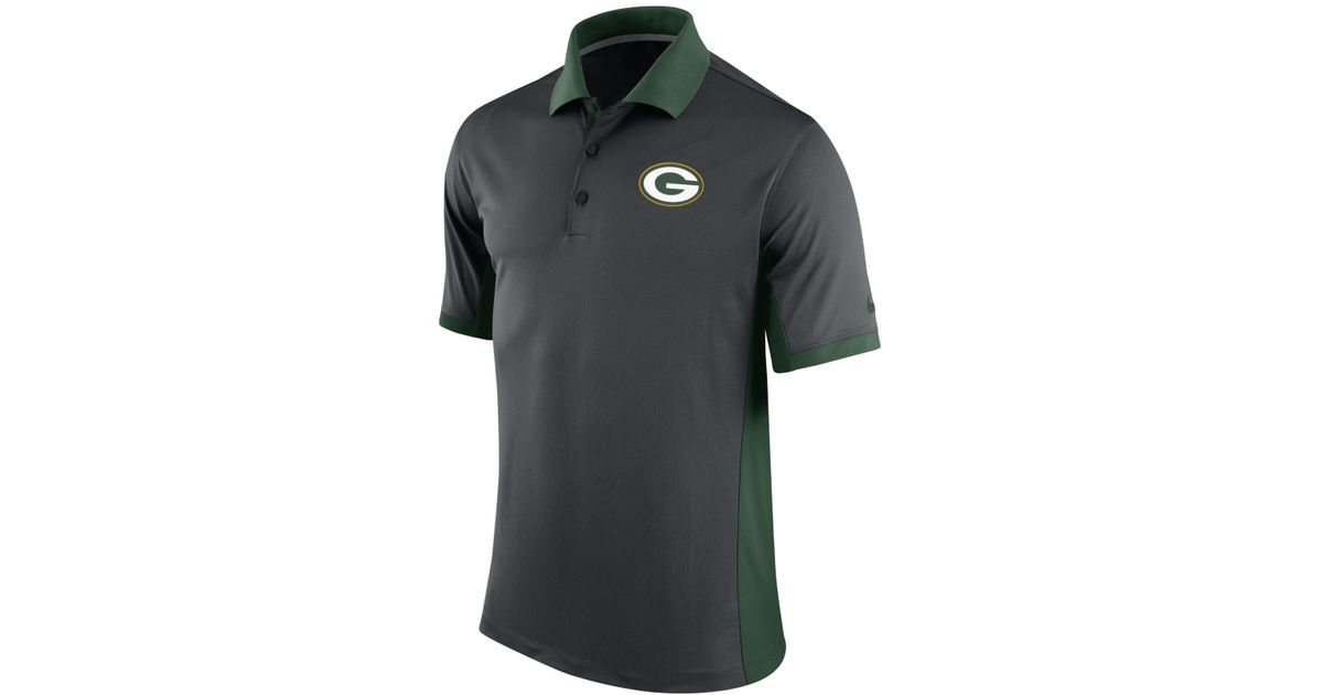 99b6f85c Nike Gray Men's Green Bay Packers Team Issue Polo for men