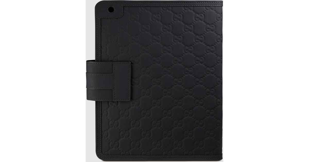 f1cafe9b7d78 Gucci Rubber Ssima Ipad 2 Case in Black - Lyst