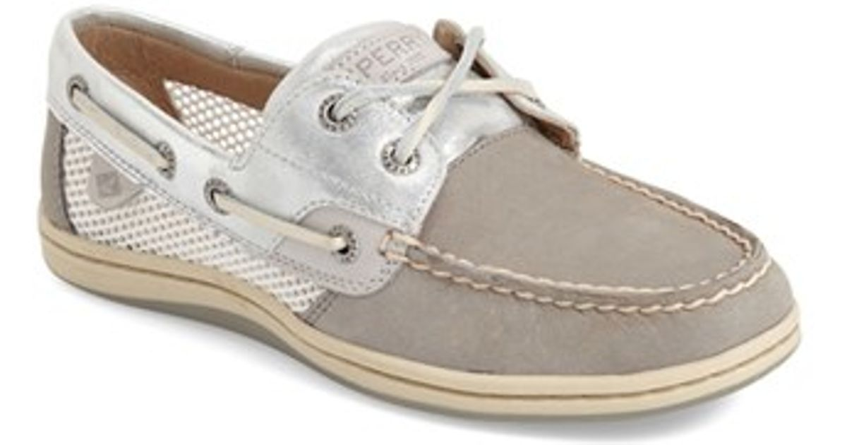 Sperry top sider koi fish mesh and leather boat shoes in for Best boat shoes for fishing