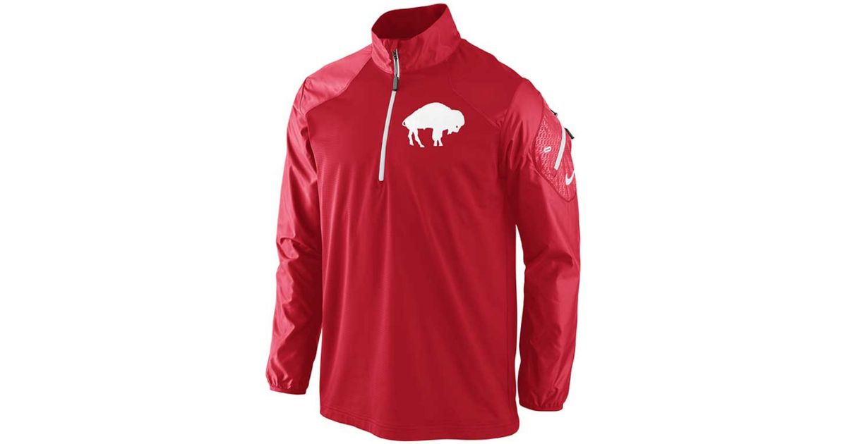 reputable site e80aa 01777 Nike Red Mens Buffalo Bills Alt Hybrid Halfzip Jacket for men