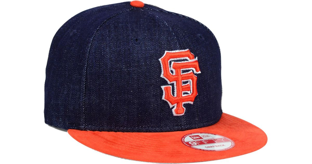 innovative design 42bdb 30041 ... best lyst ktz san francisco giants denim suede 9fifty snapback cap in  blue for men bb319 usa new ...
