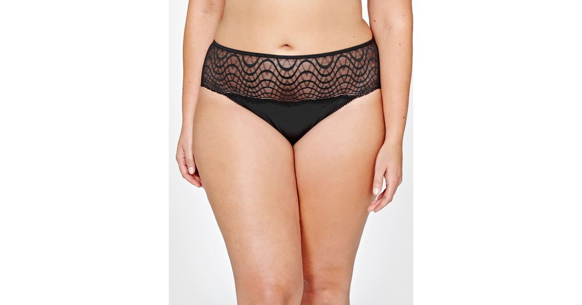 7584e01a5 Lyst - Addition Elle Ashley Graham Lace Thong in Black