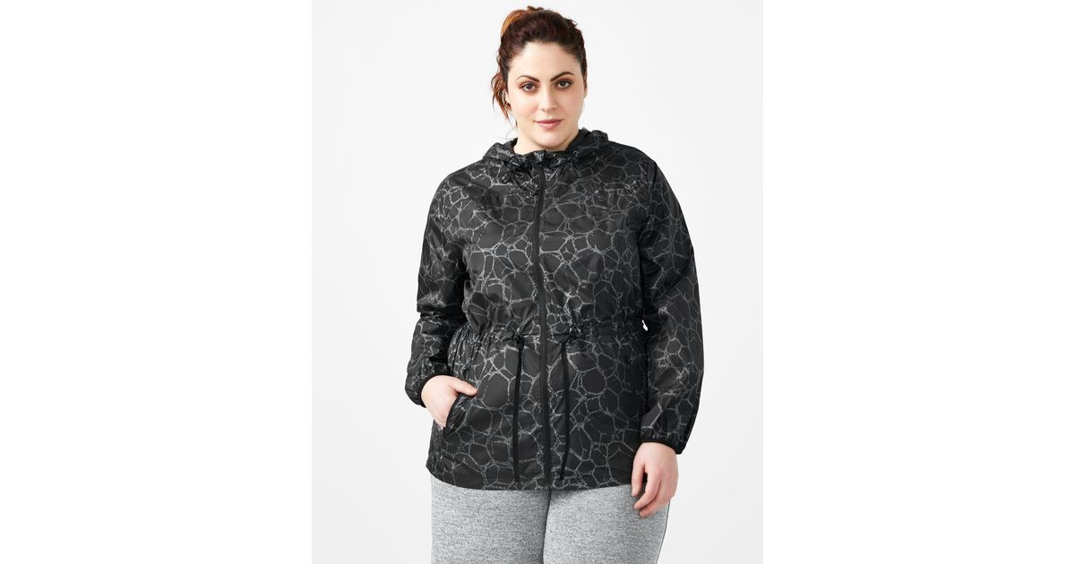 b90c080bc14 Lyst - Addition Elle Activezone - Plus-size Packable Reflective Jacket With  Hood in Black
