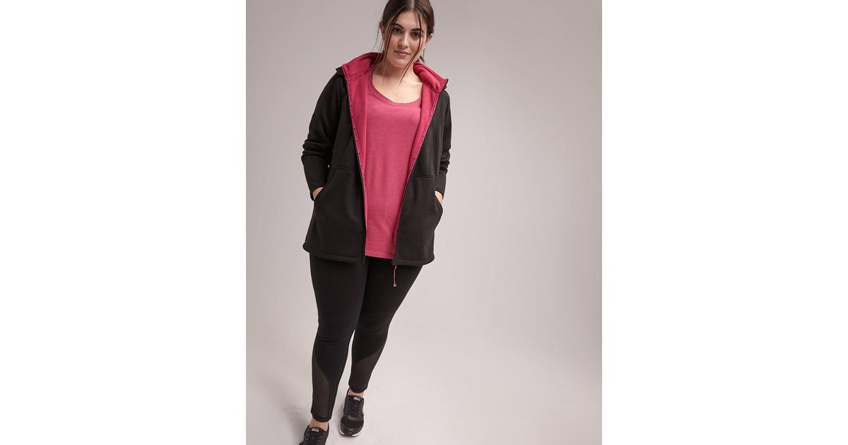 bc896f130ad25 Lyst - Addition Elle Plus Size Hooded Jacket - Activezone in Black